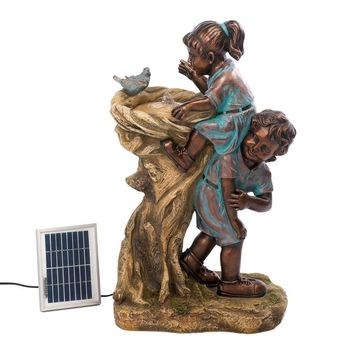 Solar Fountain Cool Drink Children Outdoor Garden & Outdoor Pond Yard Statue