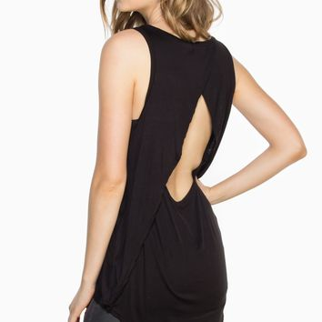 ShopSosie Style : Ready Now Tank Top in Black