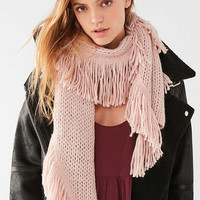 Fringed Knit Scarf | Urban Outfitters