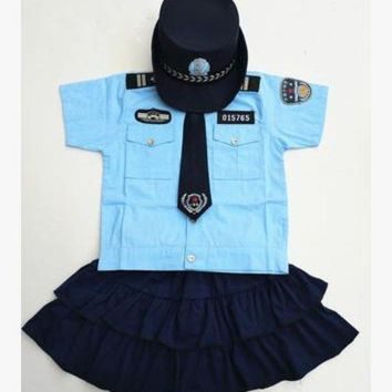 CREY6F boys police costume child police costume party police costume military police costume for children military clothing