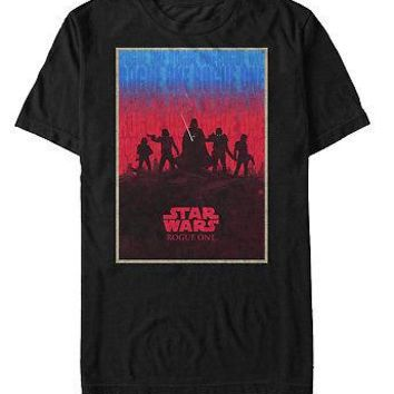 Star Wars Rogue One Chaos Poster Silhouettes Adult Unisex T-Shirt - Black