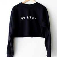 Go Away Cropped Sweater