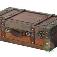"""Old Style Suitcase With Stripes - 13"""""""