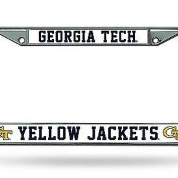 Georgia Tech Yellow Jackets ND Chrome Frame Metal License Plate Cover University