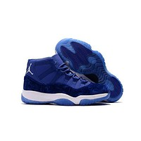 DCK7YE Air Jordan 11 Retro AJ11 Velvet Heiress Blue Sneaker Shoes US7-13