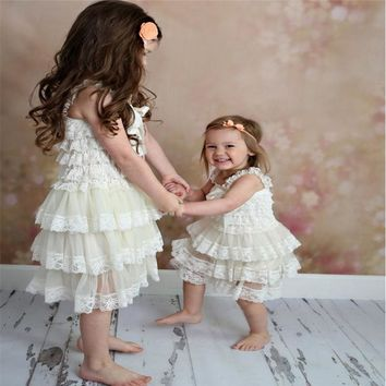 Dress For Girl Baby girls dress Clothes Newborn Baptism Infant Lace dresses Flower Children Dresses Kids Wedding one-piece