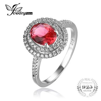 Classic Pink Created Sapphire Ring 925 Sterling Silver Pure S925 Silver Wedding Engagement Ring Band Wedding Ring New Bridal