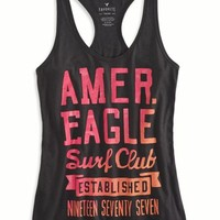 AEO Women's Bright Graphic Tank (Ebony Grey)