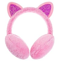 Cartoon Kitty Earmuff - Faux Fur Cats Kitten Ear Warmer