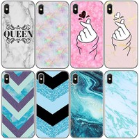 GTWIN Soft Phone Case For iphone 5 5S 6 6S Plus Marble Art Pattern Back Cover For iphone 7 8 Plus X Funda Capa Silicone Shell