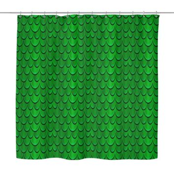 Halloween Dragon Scales Shower Curtain