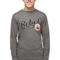 Rebel Alliance Long Sleeve Tee - Heather Grey,