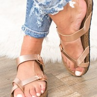 Birk Sandal- Rose Gold