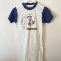 Vintage 1979 Minnesota Twins Baseball White and Blue Ringer T Shirt Size Small