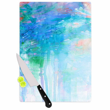 "Ebi Emporium ""Childlike Wonder"" Blue Pastel Cutting Board"
