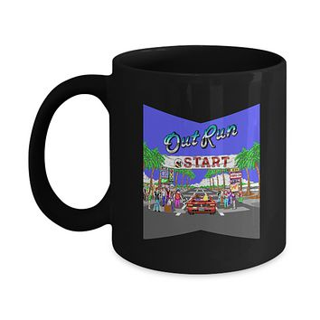 Out Run Car Arcade Vintage Video Game Coffee Mug