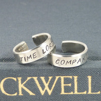 Time Lord and Companion - Doctor Who - TARDIS - Best Friends Ring Set