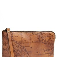 Women's Patricia Nash 'Signature Map - Cassini' Leather Wristlet - Orange