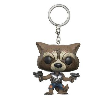 Marvel Movie Guardians of the Galaxy 2 Rocket Rabbit Action Figure Doll Keychain Toy The Avengers 3 hero toy