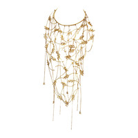 CHANEL 2010 Rhinestone Wheat & Chain Bib Collar Necklace rt. $14,000