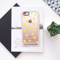 Chartreuse Dots - Brightly Spring iPhone 6s case by Allyson Johnson | Casetify