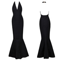 Women's Fashion Sexy Backless Mermaid Bandages Dress Prom Dress [4919867972]