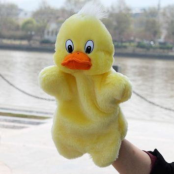 Duck Animals Doll Hand Puppet Gloves Soft Plush Toys