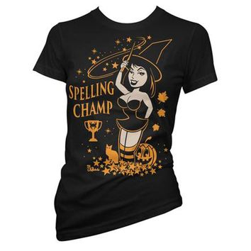 Spelling Champ Witch Women's Tee