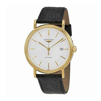 Longines Classique Presence Automatic Leather Mens Watch L49212122