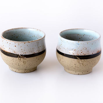 Pottery Espresso Cups / Ceramic Chai Cups / Set of 2 Cups / Handmade Pottery / Small Cups