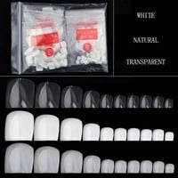 10 Size Full Cover False Toenails Toe Nail Tips 500 Pcs Fake Foot Artificial Nails Manicure Press on Fake Nails for Sale 2017