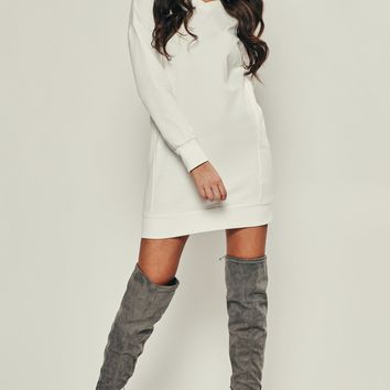 Gave Me Chills Sweater Dress (Off White)