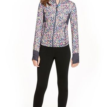 Girl's Zella Girl 'Upbeat' Print Jacket,
