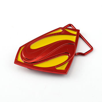 HSIC Superman Vs  Dawn Of Justice Belt Buckle Metal Alloy For Men Women Belt Jeans Accessory 3 Colors HC11631