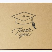 Graduation Thank You Cards Set of 10 by RoyalRegards on Etsy