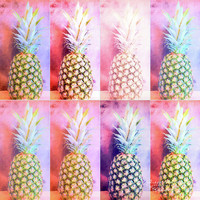 Colorful Pineapple Collage by Andrea Anderegg Photography