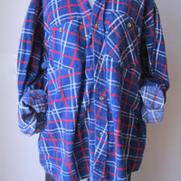 Boyfriend Shirt Plaid Flannel Shirt Vintage Hipster Grunge Mens XL Vintage Guys Christmas gift