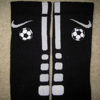SPORTS SOCCER Custom Nike Elite Socks Black w/ by ParsonsPlace4