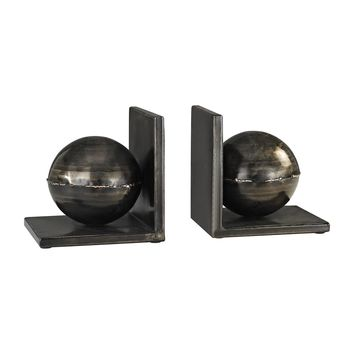 3138-260/S2 Fugue Holmes Bronze 6-Inch Set of 2 Metal Bookends