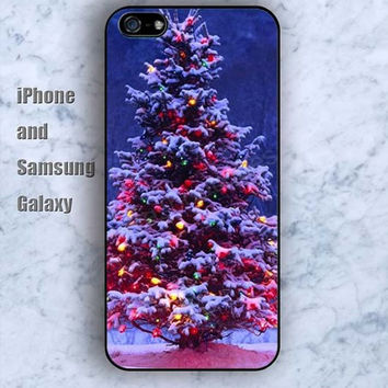 dream Christmas tree colorful iPhone 5/5S case Ipod Silicone plastic Phone cover Waterproof