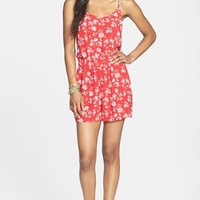 BCNU Rose Print Romper (Juniors)