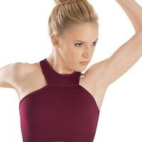 High Neck Halter Racerback Dance Bra Top | Balera™