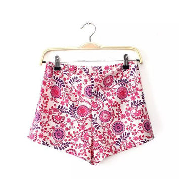 Summer Women's Fashion Stylish Casual Pants Print Shorts [4918012612]