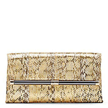 DVF 440 Envelope Distressed Snake Clutch
