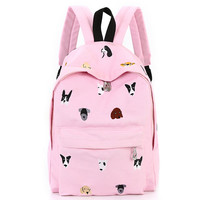 Harajuku animal embroidered backpack