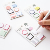 Fresh Style Schedule Marker Self-Adhesive Memo Pad Sticky Notes Post It Bookmark School Office Supply