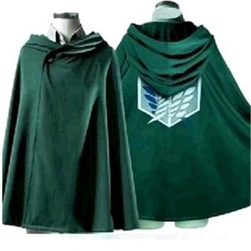 Cool Attack on Titan Anime No    Scouting Legion Cosplay Costume Cloak Japanese Hoodie Cape Costumes Cover Clothes AT_90_11