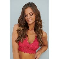 Locked In Love Bralette (Hot Pink)
