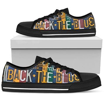 Back The Blue Police Low Top