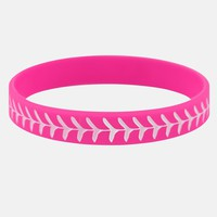 Baseball Pink and White Wristband